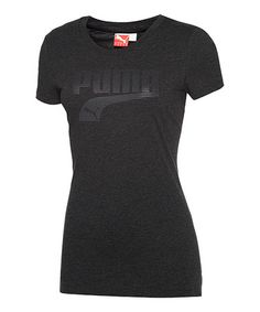 Take a look at this Black Heather Athletics Tee by PUMA on #zulily today!