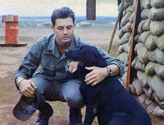 Photo of the day: Tim Shafer served in the U.S. Army as a Combat Tracker Lead Dog Handler. He is photographed with his dog Butch in Vietnam, 1967. Thank you for your service, Tim (and Butch)!