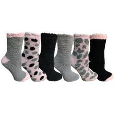 6 Pairs Women Comfort Socks Lot Long Lady Cute Tribe Pattern Knee High Stylish