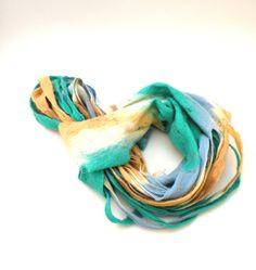 Felted scarf  Cobweb wool Circle scarf  necklace / by AgnesFelt,