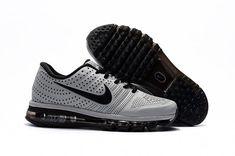 size 40 18dbd 6e67e Nike Air Max 2017 Cool Leather Men Shoes Gray Black