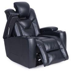 Jamestown Black Power Reclining Chair | Recliners | Discount Direct Furniture  And Mattress Gallery 699.99
