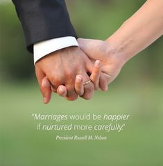 """#ItsTrue; ... """"Marriage brings greater possibilities for happiness than does any other human relationship."""" And, """"Marriages would be happier if nurtured more carefully."""" From #PresNelson's pinterest.com/pin/24066179230963800 inspiring #GeneralConference facebook.com/223271487682878 message lds.org/general-conference/2006/04/nurturing-marriage. Learn more lds.org/topics/marriage; facebook.com/FamilyProclamation. #ShareGoodness, and #passiton Lds Org, Healthy Marriage, General Conference, Marriage And Family, Breakup, Happiness, Relationship, Facebook, Happy"""