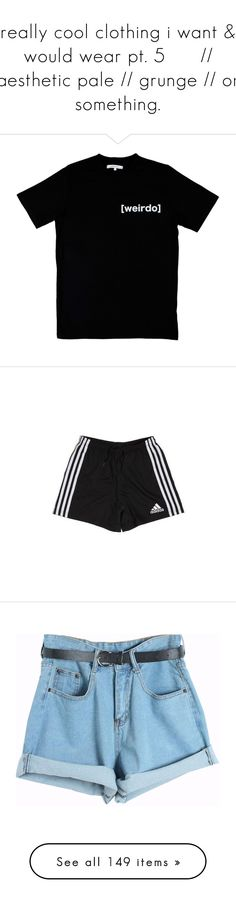 """""""really cool clothing i want & would wear pt. 5      // aesthetic pale // grunge // or something."""" by kamakira ❤ liked on Polyvore featuring tops, t-shirts, shirts, black, oversized tops, oversized t shirt, tee-shirt, over sized t shirt, t shirt and shorts"""