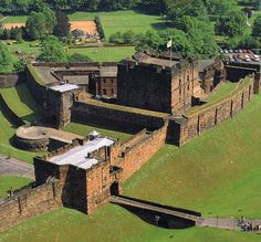aerial view of Carlisle Castle