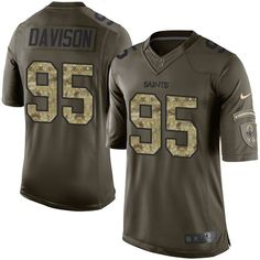 Youth Nike New Orleans Saints #95 Tyeler Davison Limited Green Salute to Service NFL Jersey