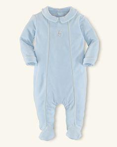Pima Cotton Velour Coverall - Baby Boy One-Pieces - RalphLauren.com