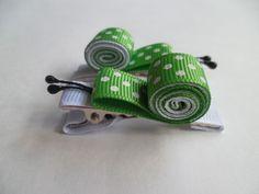 Presilhas Caracol Verde e Branco