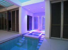 Indoor Swimming Pool Lighting Ideas at Zephyros Villa in Pomos, Cyprus