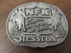 1983 25th Anniversary  Series Hesston NFR  National Finals Rodeo Belt Buckle