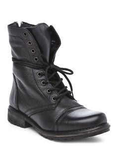 STEVE MADDEN Black Fame Combat Boots