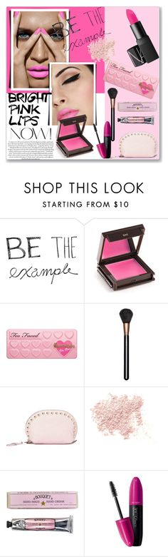 """be the example"" by kriz-nambikatt ❤ liked on Polyvore featuring beauty, Jouer, Too Faced Cosmetics, MAC Cosmetics, Rebecca Minkoff, Bare Escentuals, Soap & Paper Factory, Revlon and pinklips"