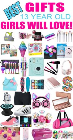 cee65de7dba8 Gifts 13 Year Old Girls! Best gift ideas and suggestions for 13 yr old girls.  Top presents for a girl on her thirteenth birthday or Christmas! Coolest  gifts ...