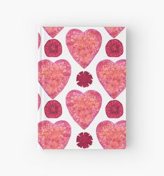 'Hearts and Flowers for Valentine's Day' Hardcover Journal by Andreea Dumez Flowers For Valentines Day, Happy Valentines Day, Red Color Meaning, Gifts For An Artist, Husband Wife, Engagement Gifts, Botanical Prints, Joyful, Lovers Art