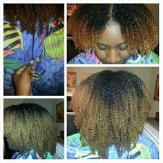 Natural curl pattern