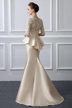 Trumpet/Mermaid Jewel Neck Sweep/Brush Train Mother of the Bride Dress With Bead... #Bead #Bride #Dress #Jewel #Mother #Neck #SweepBrush