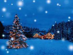 snowy Christmas night
