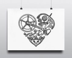 Bicycle Art Print Bike Art Print Vintage Campagnolo by VeloVintage