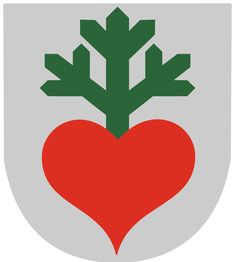 Laukaa – A muncipality in central Finland (not Super Marioworld). Another gorgeous, minimal design by Olof Eriksson. From the heart sprouts a three-pronged 'havunoksa' (a fresh sprig or small branch of a coniferous tree). Crest commissioned way back in City Logo, Minimal Design, Coat Of Arms, Mythology, Sci Fi, Symbols, Abstract, Logos, Science Fiction
