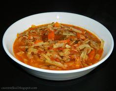 Csont nélkül...csak egyszerűen: Káposztaleves Soups And Stews, Thai Red Curry, Ethnic Recipes, Food, Essen, Yemek, Meals