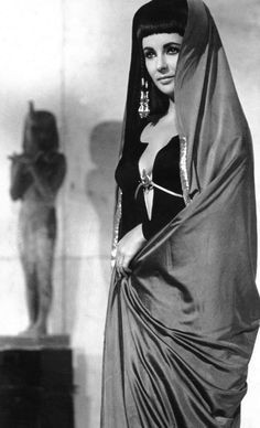 "Black Mourning Dress from ""Cleopatra"" (1963) - Taylor's entire wardrobe is phenomenal in this movie."