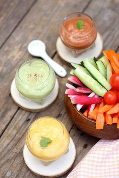 Trio de sauces vegan pour ensoleiller vos salades