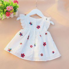 Causal Summer Baby Girl Dress Flower Fruit Dresses For Girls Cotton Print SleevelessDress High Quality Holiday Princess Clothing – Kid Shop Global – Kids & Baby Shop Online – baby & kids clothing, toys for baby & kid Baby Princess Dress, Princess Outfits, Baby Outfits, Kids Outfits, Baby Girl Frocks, Frocks For Girls, Kids Frocks, Little Girl Summer Dresses, Little Girl Dresses