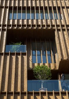 completes office block with louvred wooden facades – setareh completes office block with louvred wooden facades Office block on Tehran, Iran by architecture studio Dezeen Architecture, Concept Architecture, Architecture Details, Modern Architecture, Tectonic Architecture, Chinese Architecture, Building Skin, Building Facade, Building Design