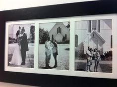 Growing Family pictures in front of where you were married? I love this