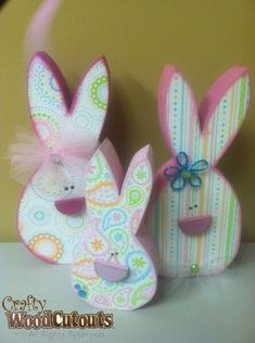 Bunny Wood Craft. Way cute!!!