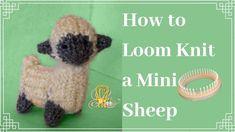 Knitting Loom Dolls, Knifty Knitter, Loom Knitting Projects, Cool Diy Projects, Sheep, Knit Crochet, Tear, Make It Yourself, Fun Diy