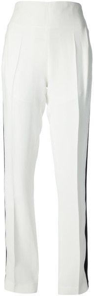 Love this: HAIDER ACKERMANN White High Waist Trousers @Lyst