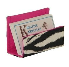 Fabric Business Card Holder Black and White by KreativeKarryAlls, $6.00