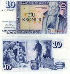 """6 octobre : """"l'Islande est au bord de la banqueroute"""", dixit Geir Haarde, le premier ministre islandais. Il justifie ainsi la promulgation de lois d'urgence, qui permettent à l'État, le cas échéant, de prendre le contrôle des banques si elles se trouvent en difficulté. - Billet islandais de 10 couronnes"""