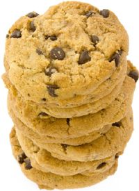 Dana Carpender's Low-carb chocolate chip cookies.