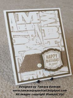 Stampin' Up! Birthday: Embossing Folder Stamp Technique