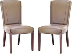 Ken Leather Side Chair (Set Of 2) Clay