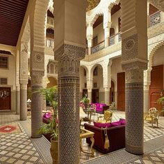 New Apartment Living Room Modern Ceilings Ideas Riad Fes, Mamounia Marrakech, Moroccan Design, Moroccan Decor, Moroccan Style, Patio Interior, Interior And Exterior, Islamic Architecture, Interior Architecture