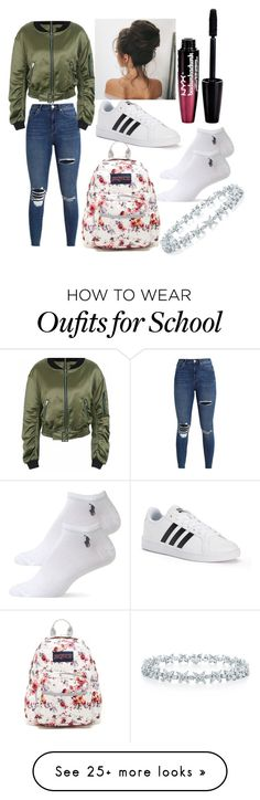"""""""#School_OutFit ❤"""" by aliaalsadoon on Polyvore featuring adidas, Charlotte Russe, JanSport and Ralph Lauren"""