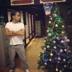 """Aggro Santos  """"My studio Xmas tree is taller than me. Sad Xmas ..."""""""