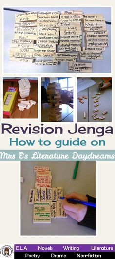 Revision Jenga - How to guide on my blog, explains how I use this amazing revision and review activity in my classroom!