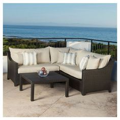 4-Piece Carey Patio Seating Group in Khaki