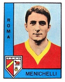 Giampaolo Menichelli of AS Roma in As Roma, Trading Cards, Football, Baseball Cards, Sports, 1960s, Soccer, Hs Sports, Futbol