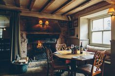 Low ceiling pub The Potting Shed Pub, in the Cotswolds, UK ++ Wow. Cozy Cottage, Cottage Living, Cottage Style, Rustic Cottage, English Cottage Interiors, Cafe Interiors, French Interiors, Rustic Interiors, Pub Sheds