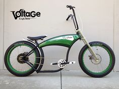 I finally found my bicycle.  VoltageCycles | Green Machine