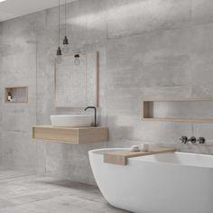 Klinker Peronda Messing Cloud Matt - Lilly is Love Simple Bathroom Designs, Modern Bathroom Decor, Modern Bathroom Design, Bathroom Furniture, Bathroom Interior, Washroom Design, Small White Bathrooms, Small Bathroom With Shower, Best Bathroom Vanities