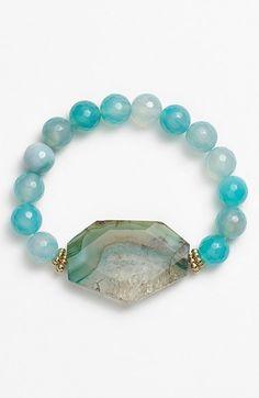 Panacea+Agate+&+Quartz+Stretch+Bracelet+available+at+#Nordstrom