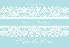 Fantasy Save the Date Card in Tiffany Blue - DreamDay Invitations