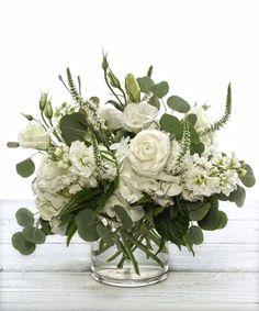 White Flower Arrangements, Artificial Flower Arrangements, Floral Centerpieces, Flower Vases, Artificial Flowers, Centrepieces, Faux Flowers, Pretty Flowers, White Flowers