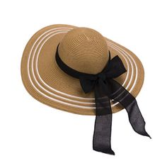 Elegance bow floppy sun hat UV wide brim straw hats for women
